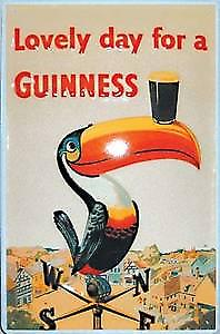 Guinness Weather Vane Steel Sign 300mm x 200mm     (hi)