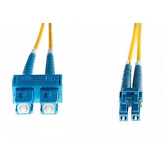 20M Lc Sc Os1 Os2 Singlemode Fibre Optic Cable Yellow