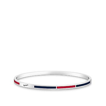 Washington Nationals - Washington graviert zwei-Ton Emaille Armband in rot und dunkelblau