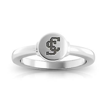 Santa Clara University Broncos Logo Engraved Signet Ring