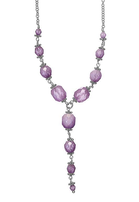 Pelgrim Damenkette: medaillon paars/zilver (502241)