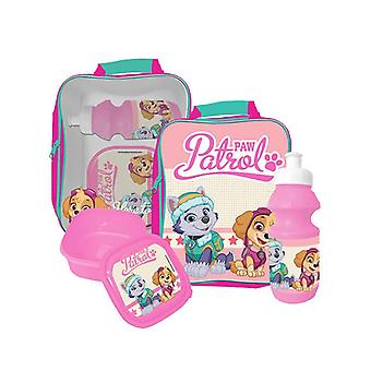 Paw Patrol 3 Piece Lunch Bag Set - Pink