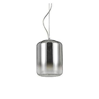 1 lumière petit plafond pendentif chrome