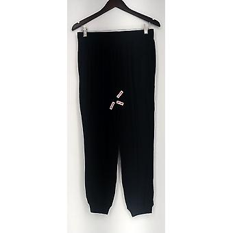 Anybody SP Cepillado Hacci Pull On Jogger Lounge Pantalones Negro A293526