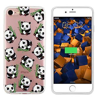 Backcover TPU + PC voor Apple iPhone 6/6S Panda Transparant