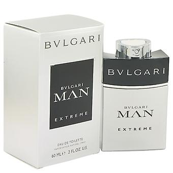 Bvlgari Man Extreme by Bvlgari Eau De Toilette Spray 2 oz / 60 ml (Men)