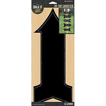 Chalk It Now Chalkboard Cardstock Die-Cuts 12/Pkg-Arrows K691308