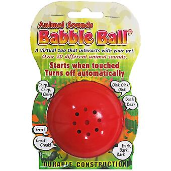 Medium Animal Sounds Babble Ball-Yellow ABB2