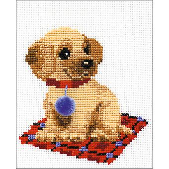 Puppy geteld Cross Stitch Kit-6