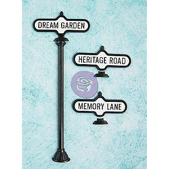 Shabby Chic Metal Treasures Antique Street Signs 3 Pkg Scmt 92296