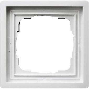 GIRA 1x Frame Planar switch Pure white 0211112
