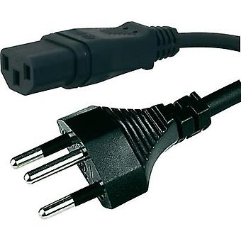 C13/C14 appliances Cable [ Swiss plug - IEC C13 socket ] Black