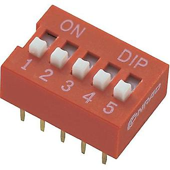 TRU Components 709463 DIP Switch, DS Series Standard Number of pins 6 6 x on/off