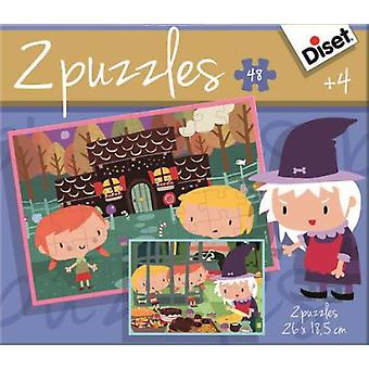 Diset Fairy Tale 2X48 Puzzle, Hansel And Gretel (Kids , Toys , Table Games , Puzzles)