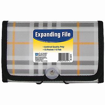 13-Pocket Coupon Expanding File-Plaid 58412