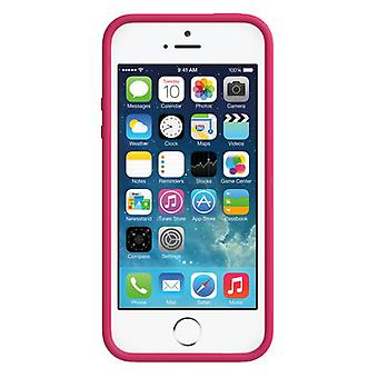 Skech glow cover cover bright iPhone 5 5S white / pink