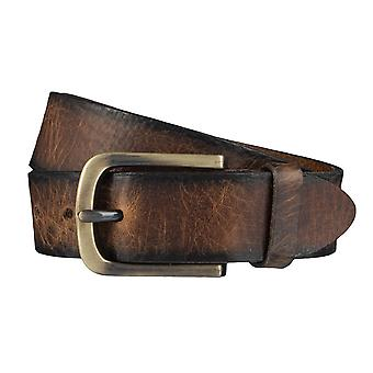 BERND GÖTZ belts men's belts leather belt camel 3897