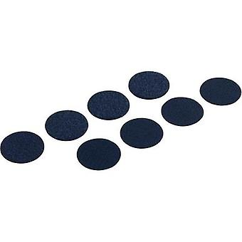 Hook-and-loop stick-on dots stick-on Hook and loop pad (Ø) 19 mm Black Fastech 8 SETS FAST-COINS PS14 BLACK 19MM 8 pc(s)