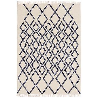 Hackney Kelims diamant bleu Rectangle tapis tapis modernes