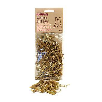 Boredom Breaker Natural Treats Dandelion&nettle Roots 50g (Pack of 8)