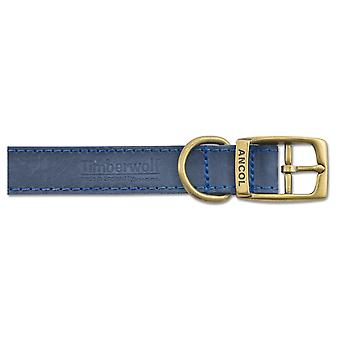 Timberwolf Leather Collar Blue 25mm X55-63cm