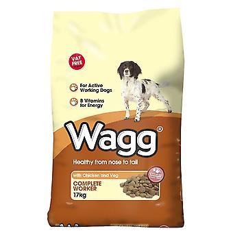 Wagg komplet arbejdstager kylling & Veg 17kg