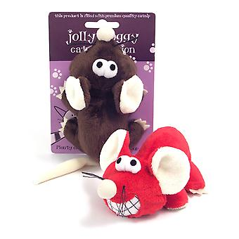 Jolly Moggy Plush Cheeky Mice Assorted 5