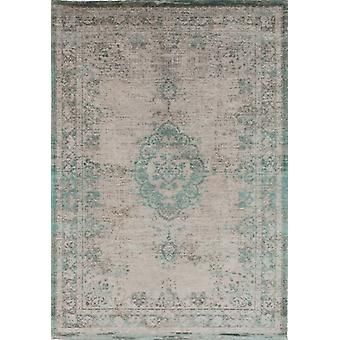 Distressed Jade Oyster Cotton Medallion Rug - Louis De Poortere 140x200