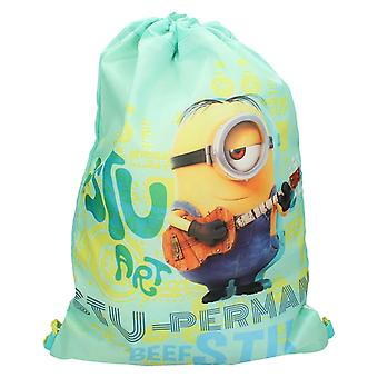 Boys Character Minions Drawstring Trainer/PE Bag