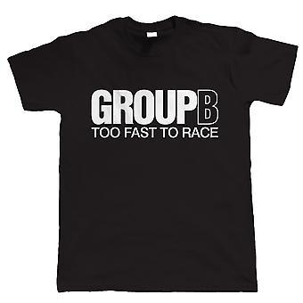 Vectorbomb, gruppo B, troppo veloce per gara, Mens Rally auto Tshirt (S alla 5XL)