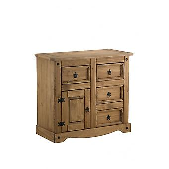 Birlea Corona 1 Door 4 Drawer Sideboard