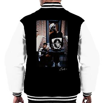 Public Enemy Flavor Flav Chuck D On Steps Men's Varsity Jacket