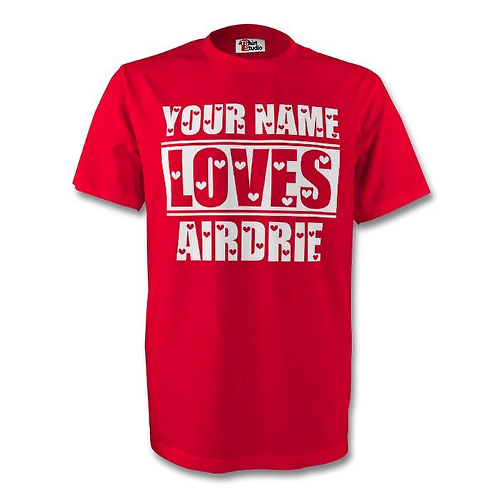 Your Name Loves Airdrie T-shirt (red)