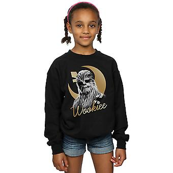Star Wars Girls der letzten Jedi Gold Chewbacca Sweatshirt