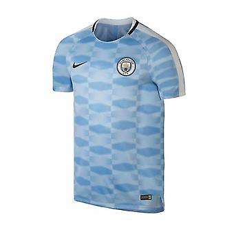 2017-2018 Man City Nike Pre-Match Training Shirt (Field Blue) - Kids