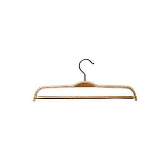 Laminated Wooden Clothes Hanger with Trouser Bar - 37cm