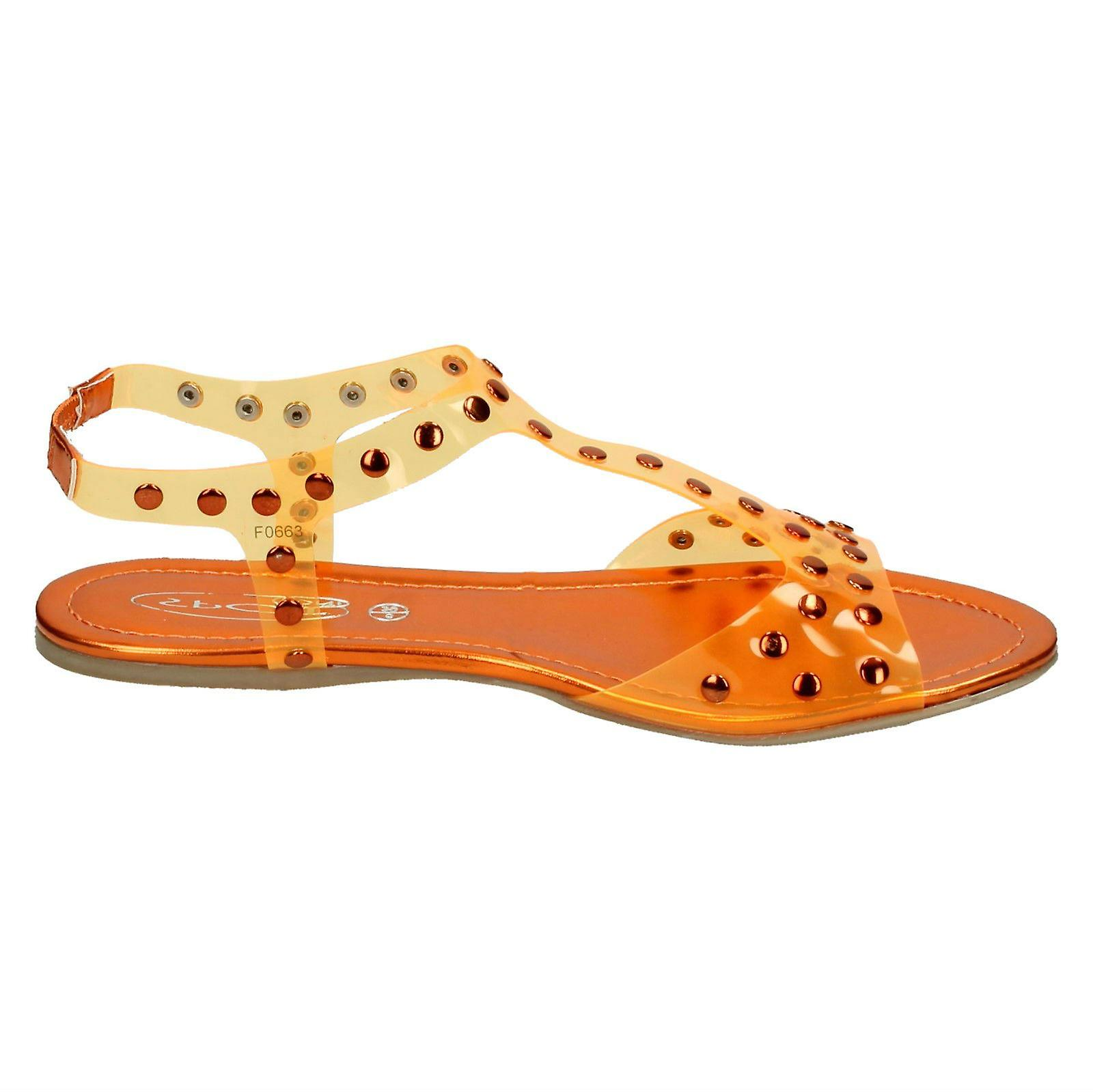 Ladies Spot On Studded Jelly Sandal