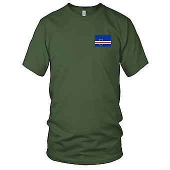 Kapp Verdes nasjonale flagg - brodert Logo - 100% bomull t-skjorte damer T skjorte