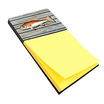 Red Fish Refiillable Sticky Note Holder or Postit Note Dispenser