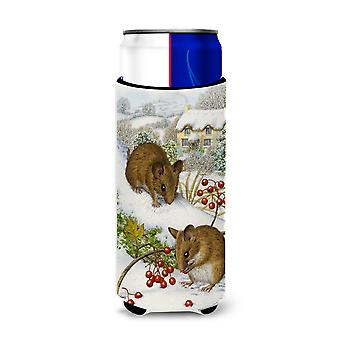 Wood Mice and Berries Ultra Beverage Insulators for slim cans