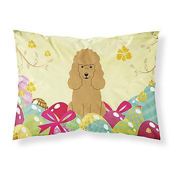 Easter Eggs Poodle Tan Fabric Standard Pillowcase