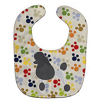 Carolines Treasures  BB6344BIB Poodle Pawprints Baby Bib