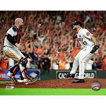 Brian McCann & Lance McCullers Game 7 of the 2017 American League Championship Series Photo Print