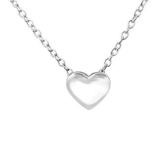 Heart - 925 Sterling Silver Plain Necklaces - W19674x