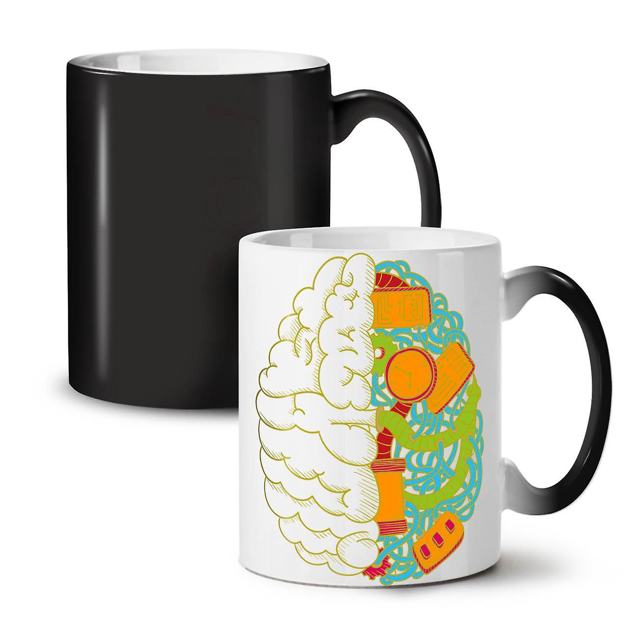 Changing Mug Computer Black Brain Geek New Tea Ceramic 11 OzWellcoda Coffee Colour KcF3uTlJ51
