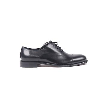 Wexford men 32902 black leather lace-up shoes