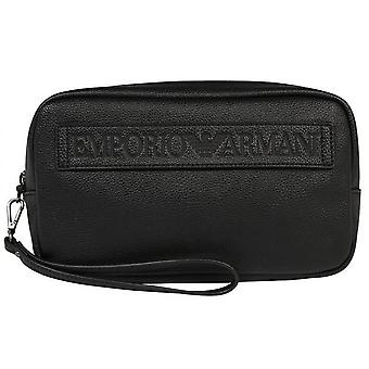 Emporio Armani - toiletry zipped Webbing - with wrist strap