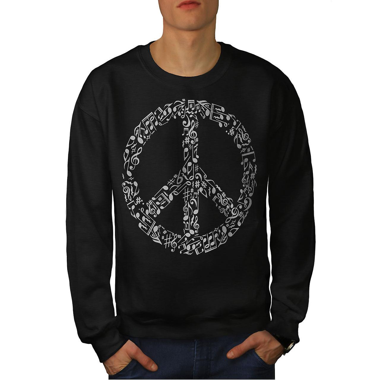 Signe de la paix musique Rasta Men noirSweatshirt