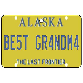 Alaska - Best Grandma License Plate Car Air Freshener