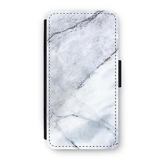 Huawei P9 Flip Case - Marble white